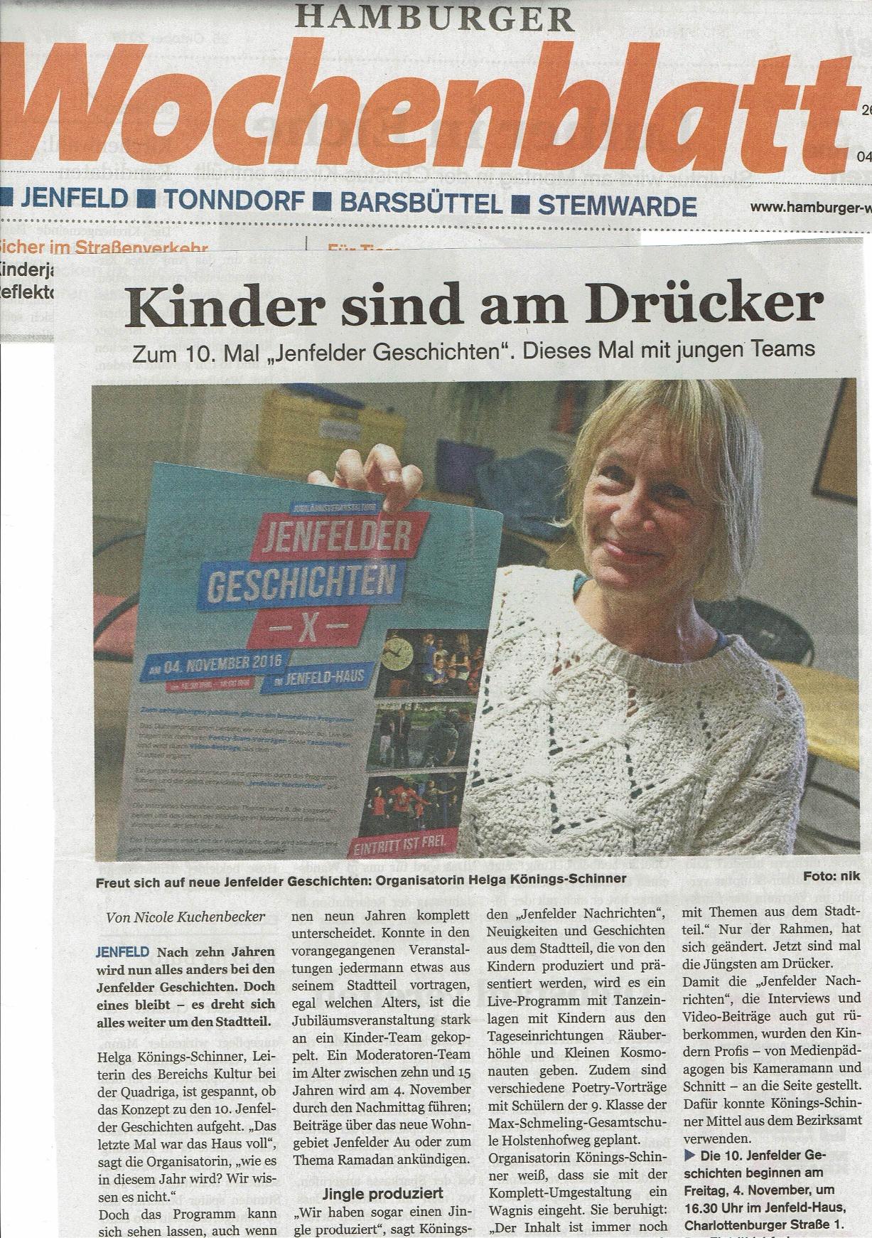 Artikel Wochenblatt v. 26.10.16 - Kopie